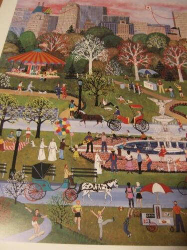 """""""Springtime in Central Park """"  by Jane Wooster Scott  hand signed certified"""