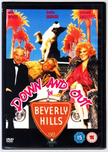 DOWN AND OUT IN BEVERLY HILLS DVD (Bette Midler Nick Nolte) Region 4 New Sealed