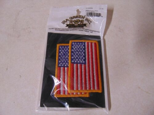 Patch Military Us American Flag Reverse Facing Shoulder Sew On Set 3 By 1 3/4