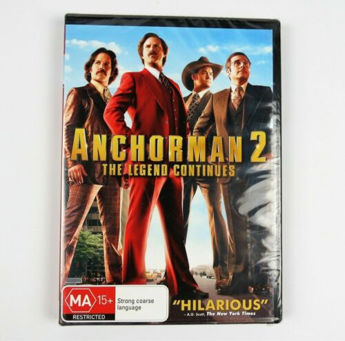 Anchorman 2: The Legend Continues Ron Burgundy Will Ferrell Brand New Sealed