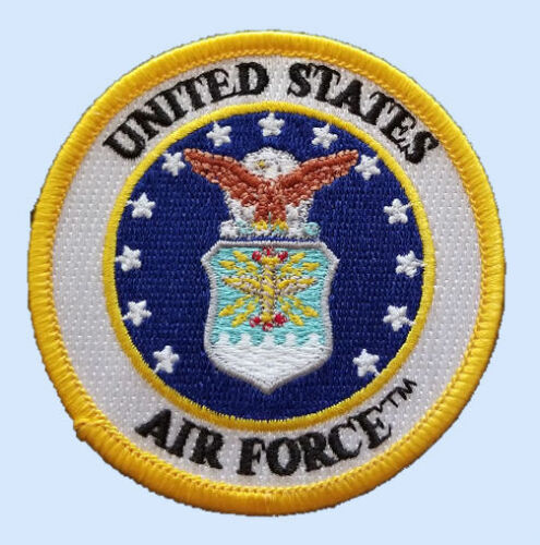 US AIR FORCE 3 INCH ROUND PATCH - MADE IN THE USA!Air Force - 48823