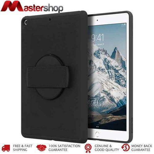 Griffin Survivor AirStrap Hand Strap Case 360 degree for iPad 7th gen 10.2 - Bla