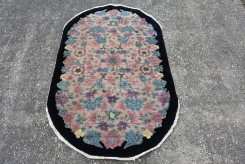 VINTAGE OVAL CHINESE RUG 3x5  #463