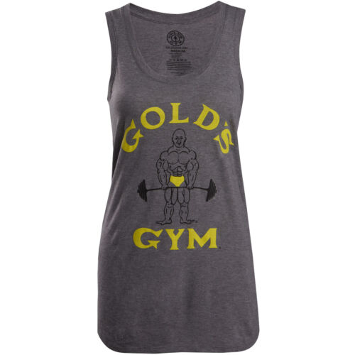 Gold's Gym Women's Classic Joe Racerback Tank Top - Gray <br/> Exclusive Seller of Gold's Gear on eBay