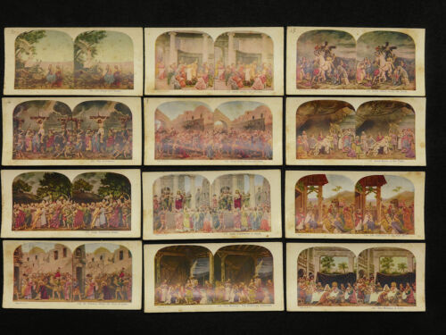 JESUS SERIES A.C. Co Stereoviews 1925 - Set of 12 Color Collection