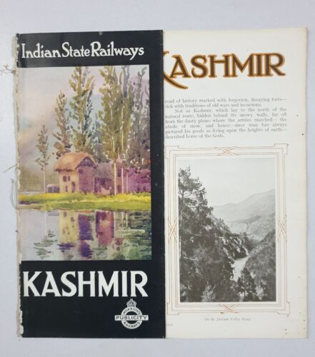 KASHMIR - 1930's Illustrated Guide INDIAN STATE RAILWAYS