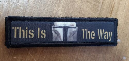 1x4 Mandalorian This Is The Way Morale Patch Tactical Military Army Usa