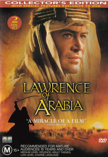 LAWRENCE OF ARABIA Peter O'Toole  DVD [Collector's Edition] R4 PAL  SirH70