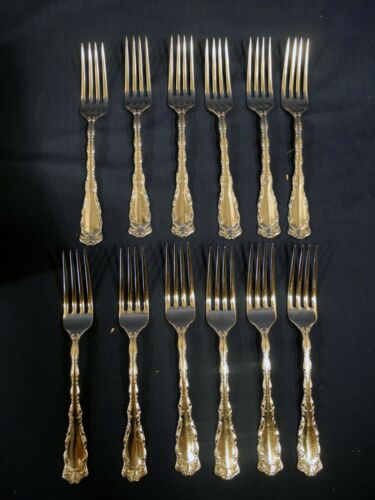 12 Reed & Barton Silverplate Rex 1894 Dinner Forks Silver plate