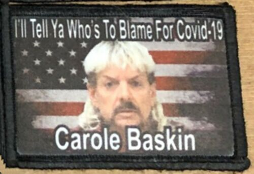 Carole Baskin Tiger King Morale Patch Funny Tactical Military USA Army - 48824