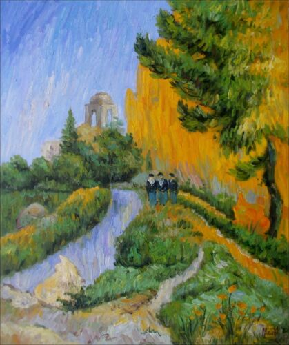 Quality Hand Painted Oil Painting Repro Paul Gauguin The Alyscamps 20x24in
