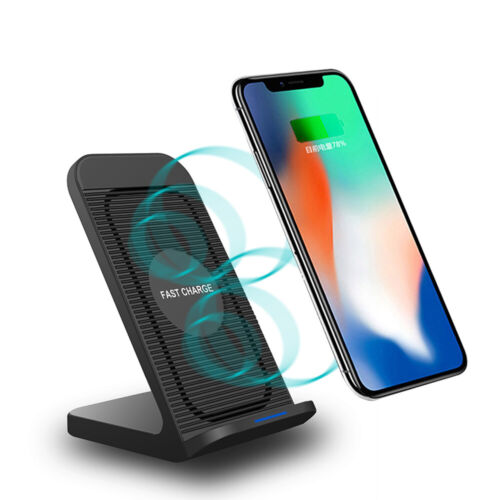 US 10W Fast Qi Wireless Charger Dock With Cooling Fan For i Phone 11 11Pro 8 XS