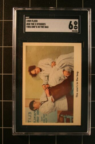 1959 TFleer #30 The 3 Stooges This one's in the bag.,    SGC 6