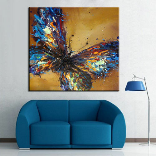 ZWPT945 100% hand painted abstract color butterfly oil painting  art on Canvas
