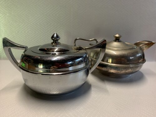 Vintage Silver Plated Sugar Bowl and Creamer Epmire Plate EPNS