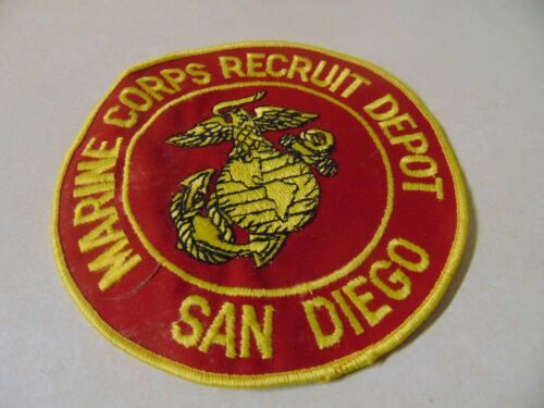 Patch Sew On Older 6 Inches Round Marine Corps Recruitdepot San Diego California