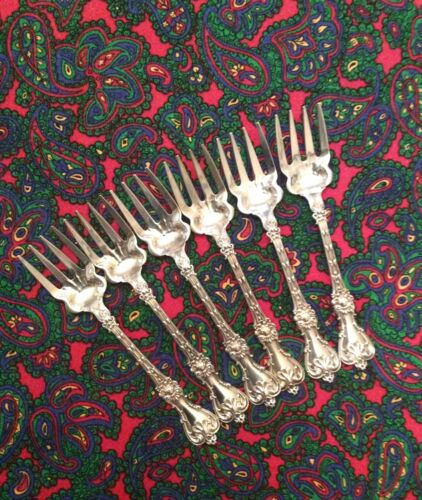 Set (6) Whiting King Edward Rare Style Ice Cream Forks