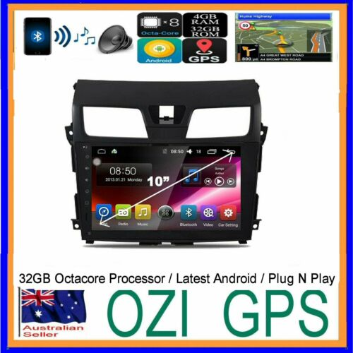 For NISSAN ALTIMA 2013+ BLUETOOTH GPS APPLE CARPLAY ANDROID HEAD UNIT &CAMERA