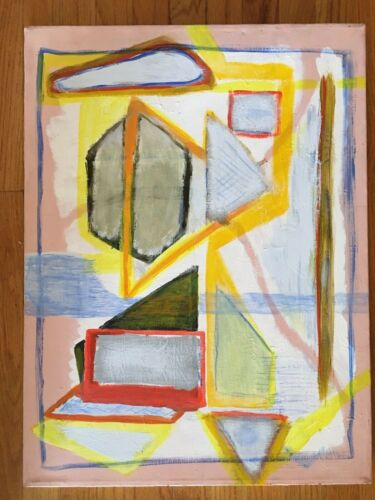 LISTED ARTIST painting ABSTRACT modernist Dr. Benjamin Gross EXPRESSIONISM 18X24