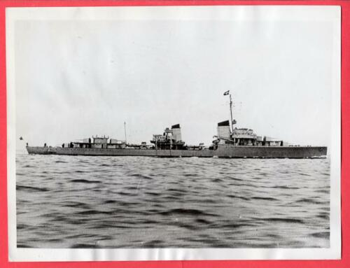 1937 Alemán Destroyer Z1 Leberecht Maass 7x9 Original News FotoOtros - 13981