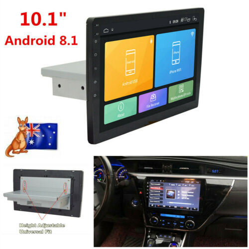 "1 Din 10.1"" Android 8.1 Car Stereo Radio GPS Wifi 3G 4G BT DAB Mirror Link OBD"