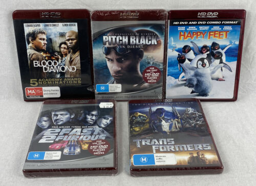 HD DVD Movies 5 Titles Bundle - Some Are Sealed All In New Condition