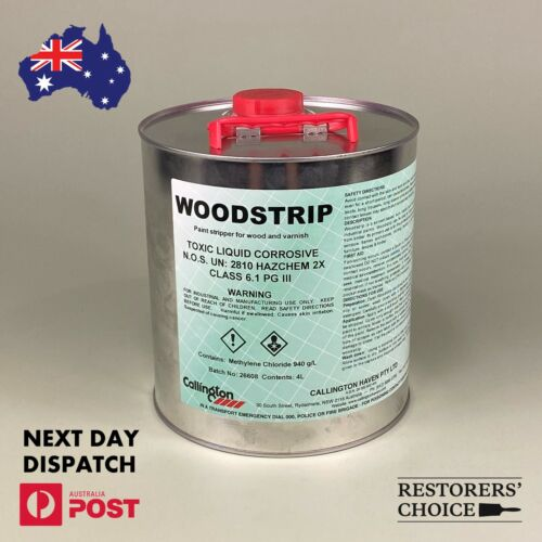 WOOD STRIP PAINT STRIPPER for paint and varnish removal callington haven 4L TIN