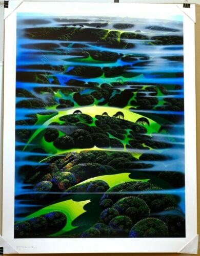 """1997 Eyvind Earle """"As Far As I Could See"""" 174/200 COA Signed Numbered Serigraph"""