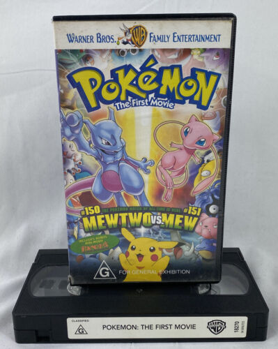 VHS VIDEO TAPE ~ Pokemon The First Movie Mewtwo vs. Mew T&W