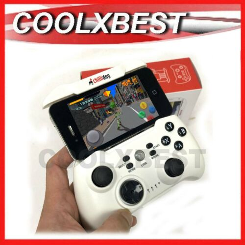 NEW MOBILE PHONE WIRELESS GAMEPAD JOYSTICK GAME CONTROLLER WHITE iPHONE SAMSUNG