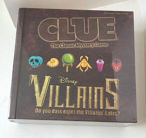 Disney Parks Villains Clue Game In Book Shaped Box New