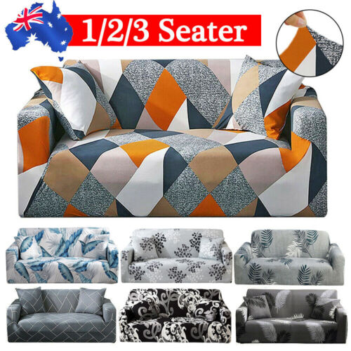 1 /2 /3 Seater Sofa Cover Couch Lounge Protector Slipcovers High Stretch Covers