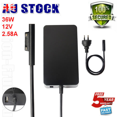 36 Watt For Surface PRO 3/4/5 GO AC Charger Adapter Power Cord 1625 RC2-00001 AU