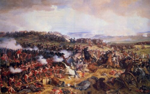 Charge of the French Cuirassiers at Waterloo Giclee Canvas Print
