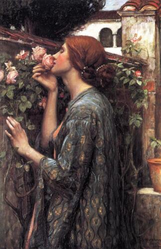 John William Waterhouse The Soul of the Rose Giclee Canvas Print
