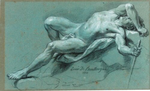 Reclining Male Nude by Maurice Braun Giclee Canvas Print