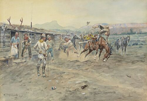 Charles Marion Russell – The Tenderfoot Giclee Canvas Print