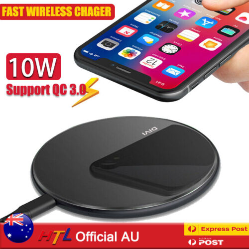 Qi Wireless Charger FAST Charging Pad For iPhone 12 11 Pro Samsung S21 S20 S10