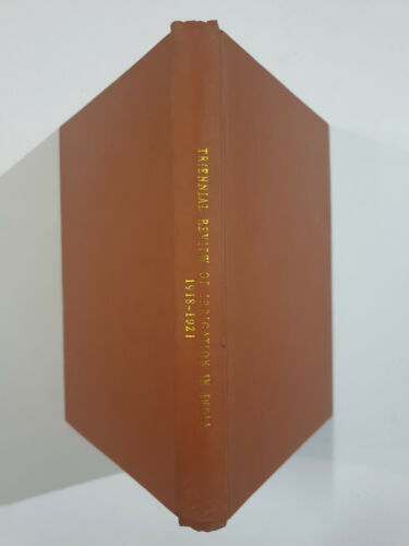 Triennial Review Of Irrigation In India. 1918-1921. 1922. 222p illus