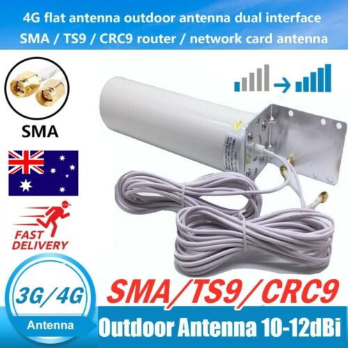 Dual SMA Male 3G/4G LTE Outdoor Fixed Bracket Wall Mount Signal Booster Antenna*
