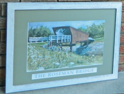VINTAGE The Roseman Bridge Signed by artist Mary Mackinnon Cortney 1994