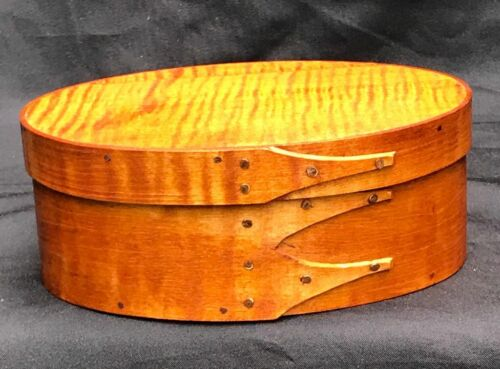 MAPLE AND TIGER  MAPLE SHAKER OVAL BOX---- SIZE # 2