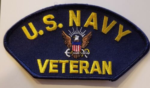 US NAVY VETERAN PATCH - MADE IN THE USA!Navy - 48826