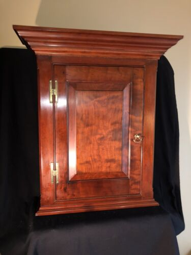 Robert Johnson Signed Bucks County Cabinet Made Solid Cherry Cabinet