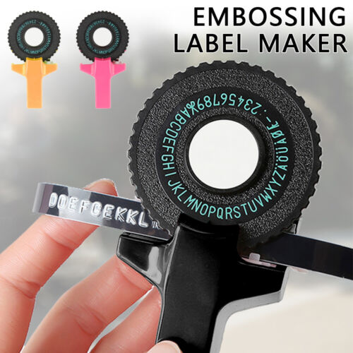 Manual Embossing Label Maker Letters Numbers Printer W/ Tape cutting with Tape🔥