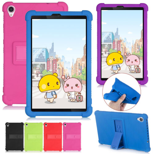 Soft Silicone Stand Case Cover for Lenovo Tab M8 FHD TB-8705F 8 in Shockproof
