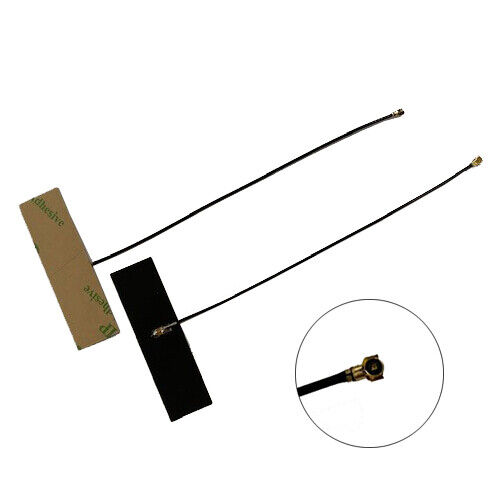 2x 2.4Ghz Internal Antenna FPC Soft Aerial IPEX MHF4 Connector