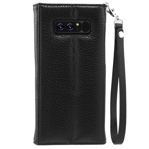 Samsung Galaxy Note 8 Case Cover Case-Mate Wristlet Folio Case Tough - Black NEW