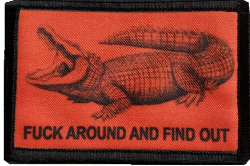 Crocodile F#$k Around and Find Out Morale Patch Military Tactical Army Flag USAArmy - 48824