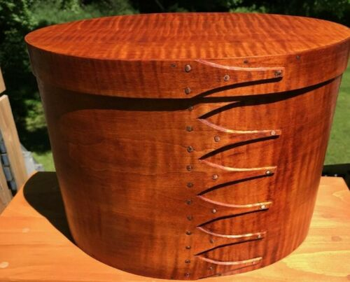 TIGER MAPLE  SHAKER OVAL BOX SIZE # 6TALL